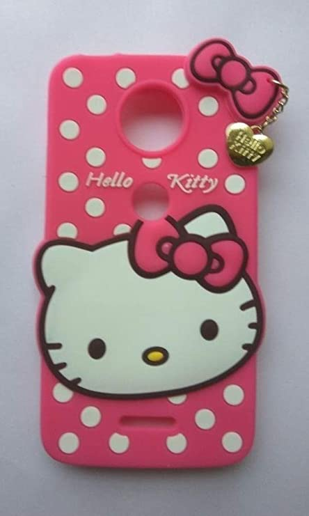 timeless design b7618 d7f60 Qzey Nice Kitty Cover for Motorola Moto C Plus - Pink