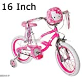 Kids, Childrens, Toddlers, Tricycles, Bikes with Training Wheels (Hello Kitty, 16 Inch) by Huffy
