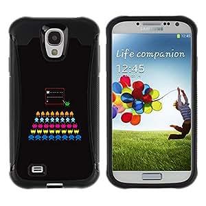 LASTONE PHONE CASE / Suave Silicona Caso Carcasa de Caucho Funda para Samsung Galaxy S4 I9500 / Computer Game Colorful Black