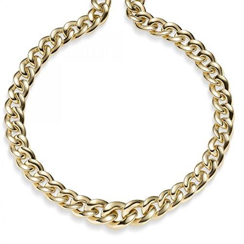 Loin Char de chaîne au cours 13-18mm Collier Bijoux en or jaune 58545cm