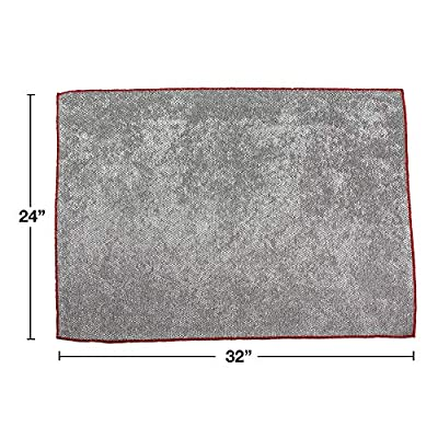 Detailer's Preference Heavy Duty Super Soft and Absorbent Big Pearl Giant Microfiber Towel 24
