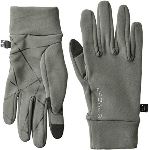 (Spyder Women's Serenity Stretch Fleece Glove, Polar/Polar, Medium)