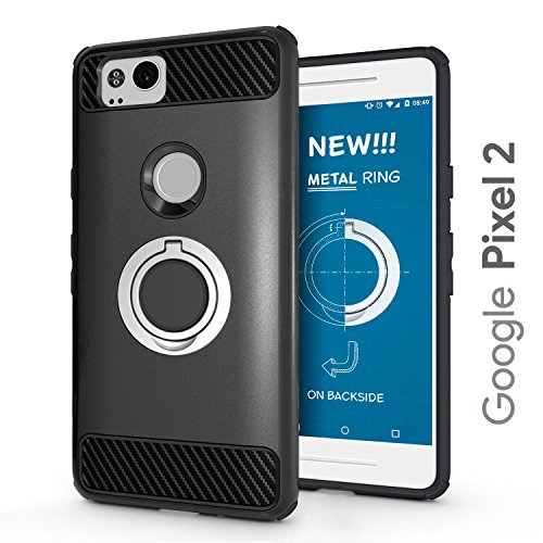 Google Pixel 2 Case - 2018 Upgraded with Metal Stand Ring - Pixel 2 Heavy Duty Protective Phone Case - Google Pixel 2 Rugged TPU Cover - Google Pixel 2 Shockproof Defender Case - Google Pixel 2 (5)