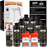 U-POL Raptor 6-Liter Black Urethane Spray-On Truck Bed Liner Kit with Custom Coat Spray Gun with Regulator, Bonus Can of Aerosol Bedliner