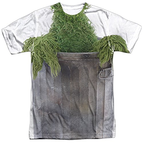 Oscar The Grouch Costume -- Sesame Street All-Over Front/Back T-Shirt, -