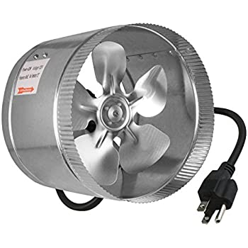 Ventech Vt Df 8 Df8 Duct Fan 420 Cfm 8 Quot Built In