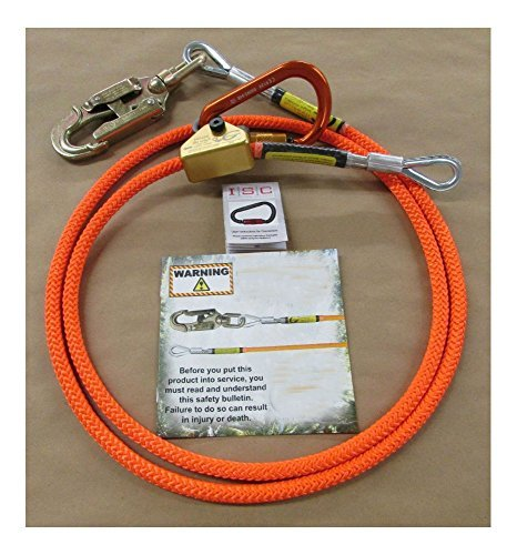 ARBORIST CLIMBING 5/8 X 12FT STEELCORE FLIP LINE KIT CARABINER 75243 by Unknown