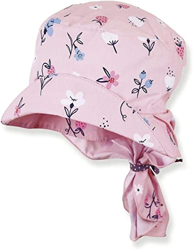 Sterntaler Girls Cap with Visor and Neck Protection Hat
