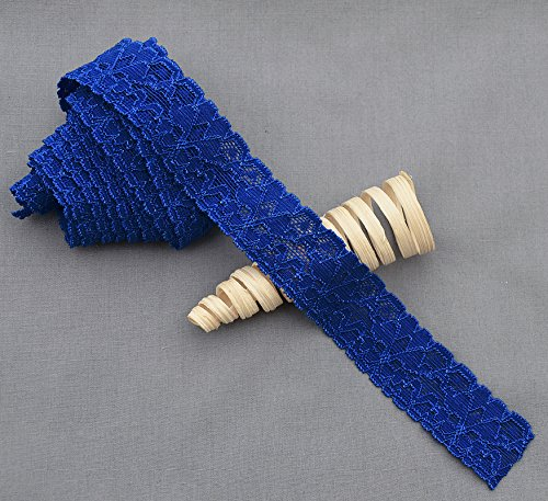 10 Yards Royal Blue 1 Elastic Lace Stretch Lace Elastic Lace Trim Elastic Headband Bridal Garter Baby Hairbow Ties EL043 Your Perfect Gifts