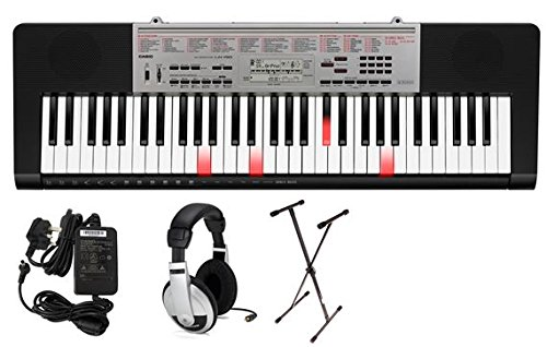 Casio LK190 61 Key Lighted Portable Keyboard Premium Package by Casio