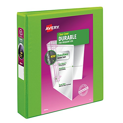 Avery Durable View Binder with 1.5 inch Rings, Green, 1 Bind