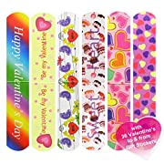 #LightningDeal 92% claimed: Cualfec 36 PCS Valentine's Day Magnetic Bookmark Great Valentine's Day Gift for School Prizes and Valentine's Party Favors for Kids - 6 Different Designs