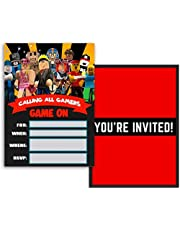 Invitations for Roblox Cards Birthday Party Invitation Theme Card for Children - 12 set