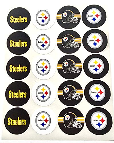 Set of 20 Pittsburgh Steelers Sticker Phone Small Mini Decal Logo Birthday Parties -