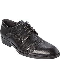 Alberto Fellini Mens Oxford-Classic Lace-up Dress Shoes