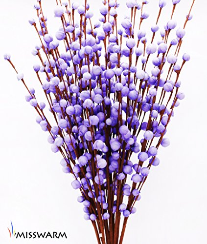 "Curly Bamboo Arrangement (Misswarm 10 pieces 29.5"" Long of Plum Blossom Blooms artificial Flowers Spray for Wedding Bouquet Posy Table arrangement for Home Office Party Hotel Restaurant Patio or Yard Decoration(Purple))"