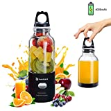 Hurrikane Portable Fruit Juice Blender - Personal Smoothie Blender with 6 Blades in