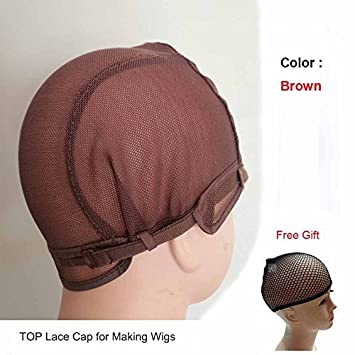 Hairnets Humorous 1 Pcs Double Lace Wig Caps For Making Wigs And Hair Weaving Stretch Adjustable Wig Cap Hot Black Dome Cap For Wig Hair Net With The Best Service
