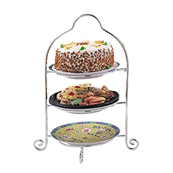 Elegance Silver 8509 Silver Plated 3 Tier Dessert Stand  sc 1 st  Amazon.com : silver plated 3 tier cake stand - Pezcame.Com