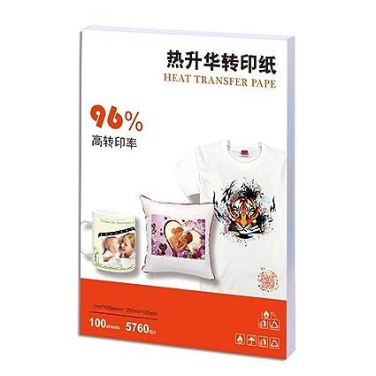 100pcs / pack Papel de calcomanía de tela Papel de ...