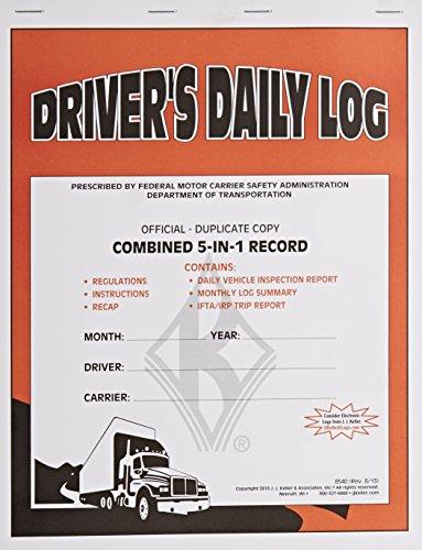 J.J. Keller 8540 5-in-1 Driver's Daily Log Book