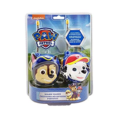 eKids Paw Patrol Chase and Marshall Character 2-Way Radios (Walkie Talkies): Toys & Games