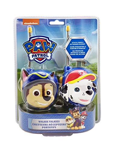 Paw Patrol New Walkie Talkies - Set of 2 Kids Walkie Talkies Chase and Marshall - Excellent Walkie Talkies for Toddlers