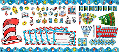 Party City Dr. Seuss Classroom Favors Kit for 36 Guests, Includes Favors and Borders -