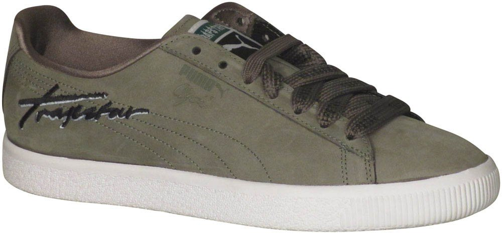 PUMA Men\'s x Trapstar Clyde Sneaker Burnt Olive