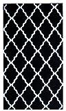 Contemporary Black Trellis Rug 7-Foot 10-Inch x 9-Foot 10-Inch Designer Area Rug For Sale