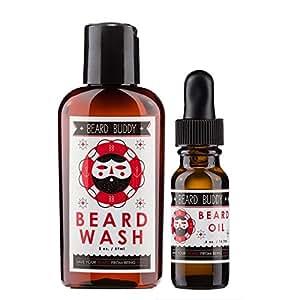 Beard Buddy - All Natural and Organic Starter Pack - 2 oz. Beard Wash & .5 oz. Beard Oil