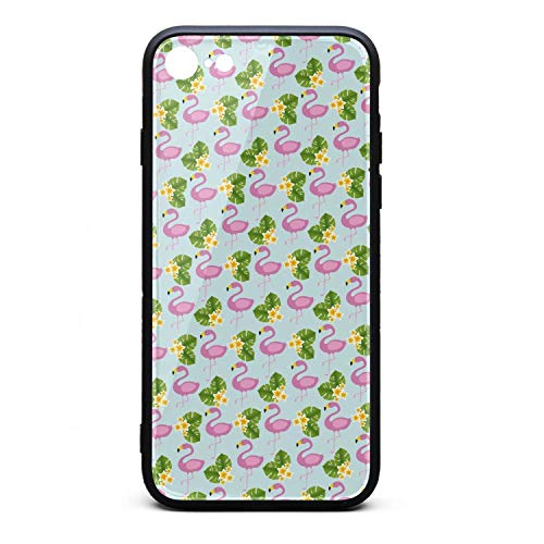 (Phone Case for iPhone 6Plus/6SPlus Flamingos Birds Tropical Flowers Green TPU Full Protective Cute Anti-Scratch Fashionable Glossy Anti Slip Thin Shockproof Soft Case )