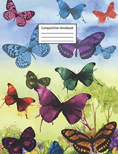 - Composition Notebook: Butterflies | Page Size is 7.44