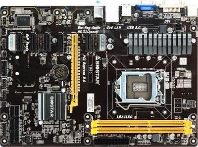 New BIOSTAR TB85 Motherboard ATX LGA 1150 Intel 6 GPU Mining Limited Supply by HotTopStar