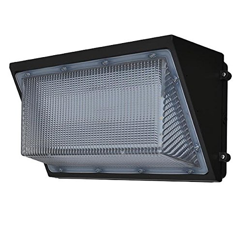 LEDwholesalers 135-Watt Outdoor LED Wall Pack Security Light Fixture, UL-Listed & DLC-Qualified, White 5000K, 3769WH by LEDwholesalers