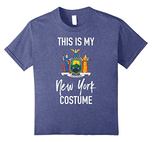 New York Themed Party Costume (Kids This is my New York Costume T-Shirt - Funny Halloween Tee 8 Heather Blue)
