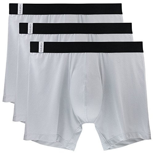 406e9edf6 David Archy 3 Pack Men s Athletic Sur-Dry Tech Mesh Sports Boxer ...