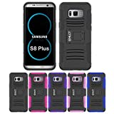 Galaxy S8 Plus Case, HLCT Rugged Shock Proof Dual-Layer Case with Built-In Kickstand for Samsung Galaxy S8 Plus (2017) (Black)