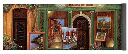 Pixels Yoga Mat w/ Bag ''La Galleria Del Corvo'' by Pixels