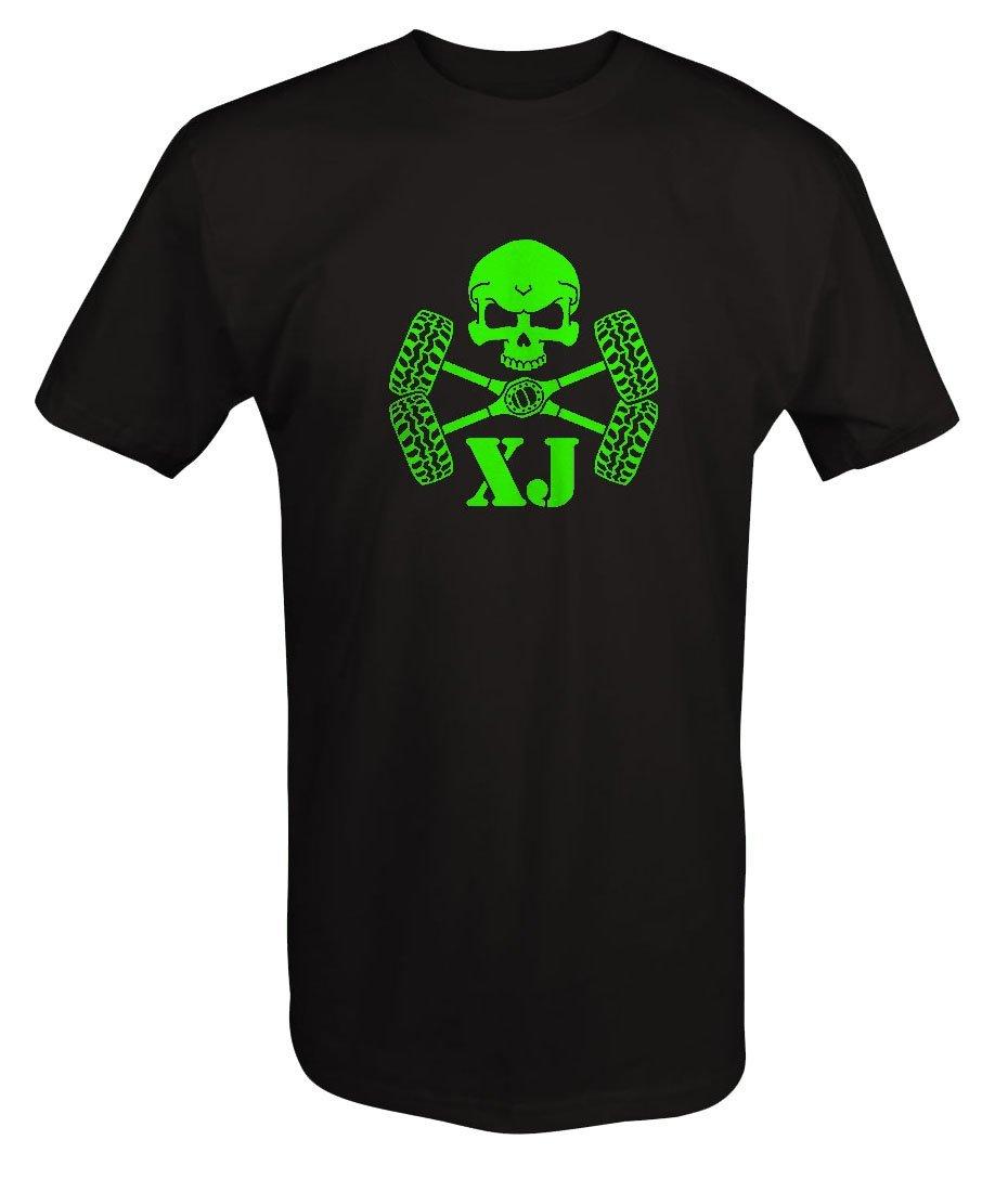 LIME - Skull Crossbones Tires & Axles Jeep Cherokee XJT shirt - 3XL