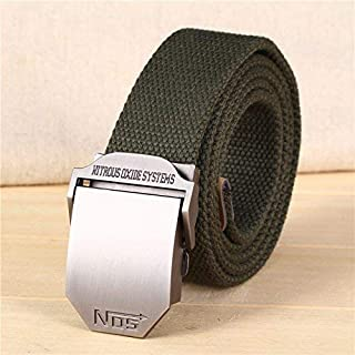 IANXI Home Belt Male and Female Buckle Belt Casual Woven Jeans with Canvas Belt (Color : A, Size : 140cm) IANXI-belt