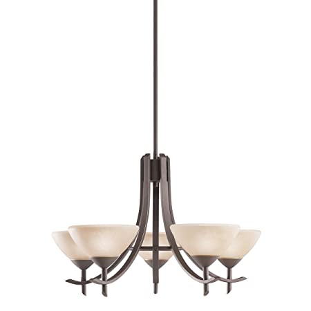 Kichler 1679OZ 5-Light Olympia Incandescent Chandelier, Old Bronze