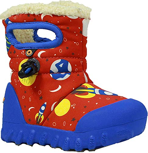 Moc Kids' Multi Waterproof B Space Print Insulated Red Toddler Bogs Winter Boot pfEwp