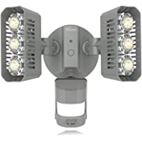SGLEDS 27W LED Motion Sensor 5000K Outdoor Flood Lights (Grey)