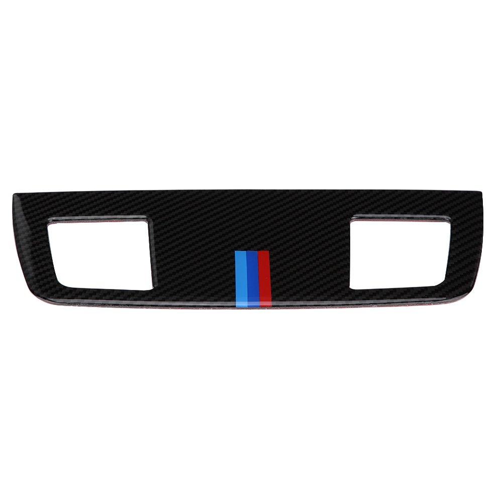 Cubierta del panel del mercado de la salida de aire del coche de la fibra de carbono, ajuste interior de la etiqueta engomada del panel del mercado de la salida del aire para BMW Serie 3 E90 / 92/93 2(2#) Keenso