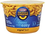 Consumers in the US are turning to Kraft Easy Mac cups for the great taste of macaroni and cheese. Easy Mac cups are simple to prepare – just add water and put in the microwave for a few minutes – plus they are portable with a disposable cup ...