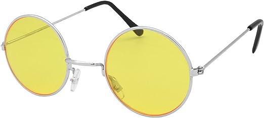 Amazon Com Bristol Novelty Yellow Lennon Glasses One Size Clothing