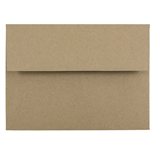 A6 Photo Paper - JAM PAPER A6 Premium Invitation Envelopes - 4 3/4 x 6 1/2 - Brown Kraft Paper Bag - 50/Pack