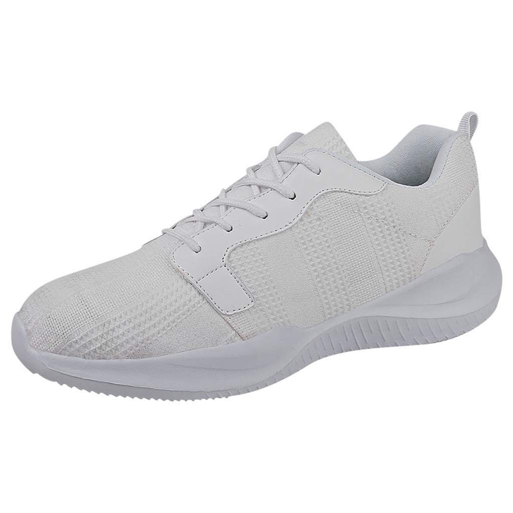 SSYongxia❤ Classic Sneakers for Women Men Lightweight Walking Running Gym Sneaker for Casual White