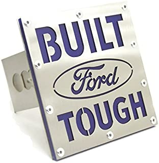 DanteGTS Built Ford Tough 2 Hitch Plug Cover Cap Brushed Stainless Steel INC Au-Tomotive Gold